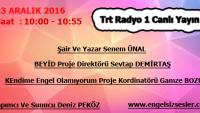 23 Aralık 2016 Saat: 10:00 — 10:55 TRT Radyo 1 Canlı Yayın