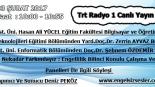03 ŞUBAT 2017 Saat : 10:00- 10:55 TRT Raydo 1 Canlı Yayın