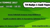 14 TEMMUZ 2017 SAAT : 10:00 – 10:55 ARASI TRT RADYO 1 CANLI YAYIN