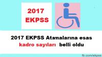 2017 EKPSS Atamalarına esas kadro sayılarını Çalışma Bakanlığı açıkladı.