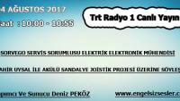 04 AĞUSTOS 2017 SAAT : 10:00 – 10:55 ARASI TRT RADYO 1 CANLI YAYIN