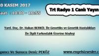 10 KASIM 2017 SAAT : 10:00 – 10:55 ARASI TRT RADYO 1 CANLI YAYIN