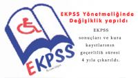 EKPSS Yönetmeliğinde değişiklik yapıldı.