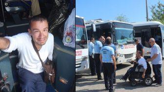 Antalya'da engelli genci minibüse almadılar