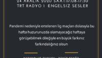 24 ARALIK 2020 SAAT:17:08-17:30 TRT RADYO 1  ENGELSIZ SESLER