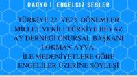 18 MART 2021 SAAT:17:08-17:30 TRT RADYO 1  ENGELSIZ SESLER